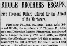 Imagen del articulo sobre los hermanos fugados, Ed y Jack Biddle, y la Sra. Kate Soffel