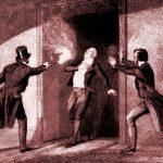 Imagen del momento del asesinato Spencer Perceval, en el año 1812.