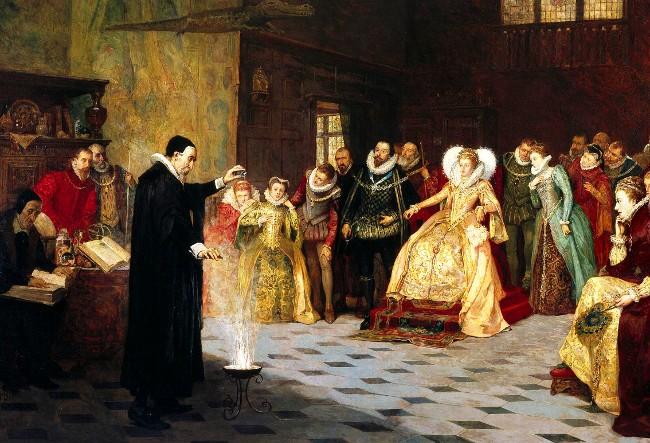 John Dee, era carismático, astrólogo de la Reina y matemático, pero no tradujo el necromicon.