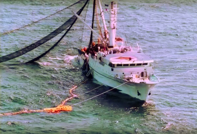 "Un legendario ""kraken"" salvaría a la tripulación de un barco pesquero."