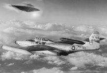 Un avión intercepta aun OVNI en la historia de el incidente Kinross