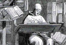 En el siglo XIII, los escribas se parecían a este, imagen que podría reflejarse al monje que escribió El Codex Gigas