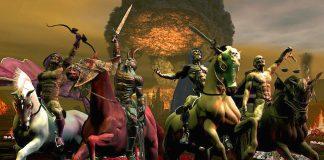 Los 4 Jinetes del Apocalipsis, es una referencia del libro de las revelaciones en la biblia