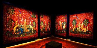 Un rico terrateniente mando a bordar los seis tapices de los sentidos